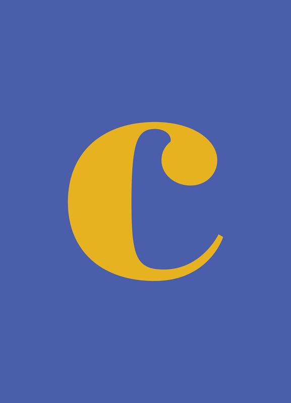 Blue Letter C Leinwandbild | Dekoration > Bilder und Rahmen > Bilder