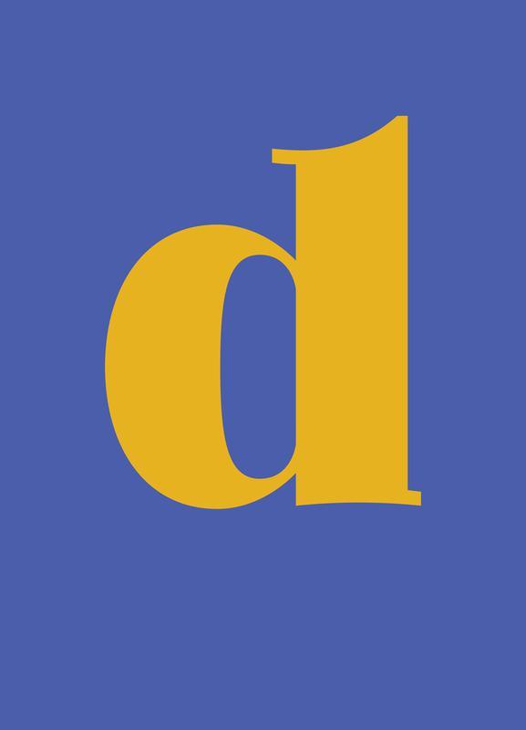 Blue Letter D -Leinwandbild
