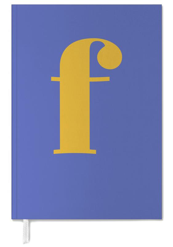 Blue Letter F Personal Planner
