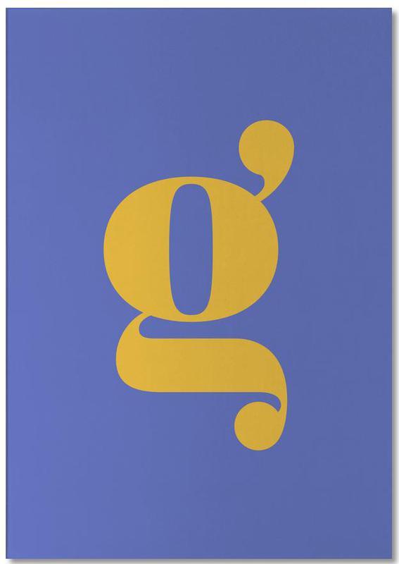 Blue Letter G -Notizblock