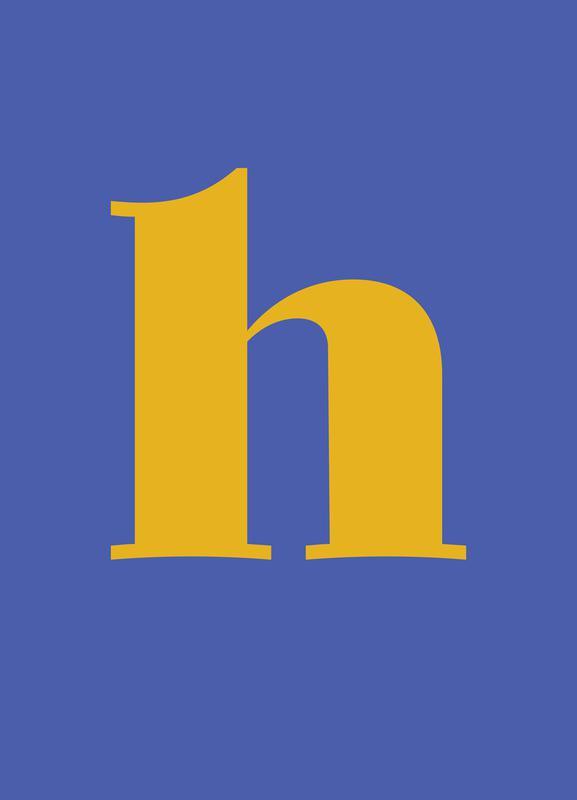 Blue Letter H -Leinwandbild