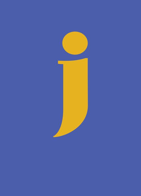 Blue Letter J -Leinwandbild