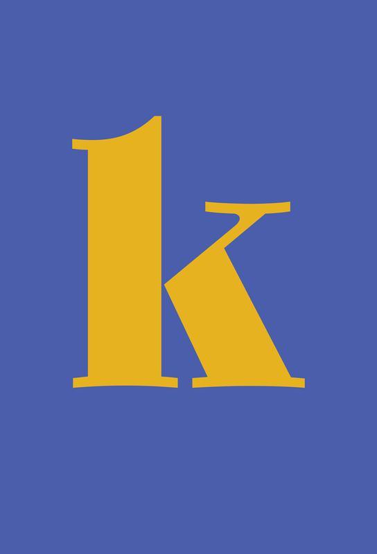 Blue Letter K Aluminium Print