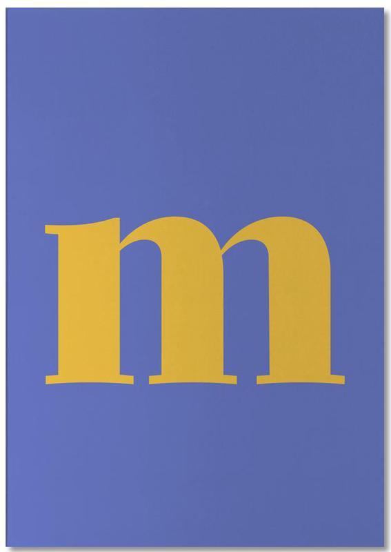 Blue Letter M Notepad