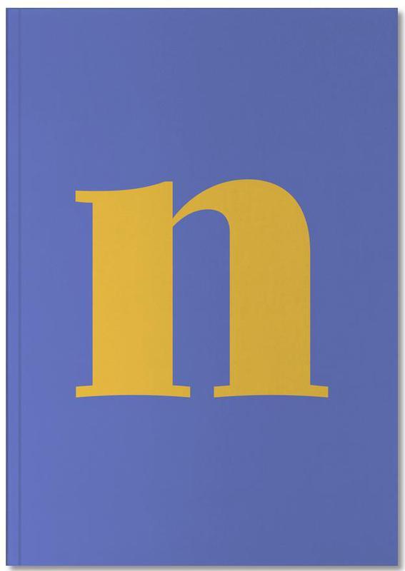 Blue Letter N Notebook