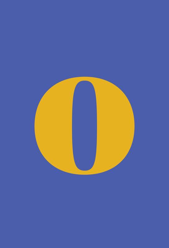 Blue Letter O Acrylic Print