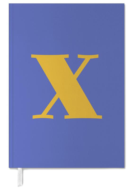 Blue Letter X Personal Planner