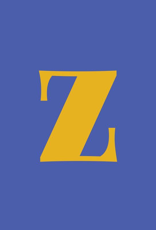 Blue Letter Z -Alubild