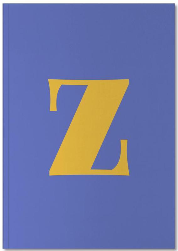 Blue Letter Z Notebook