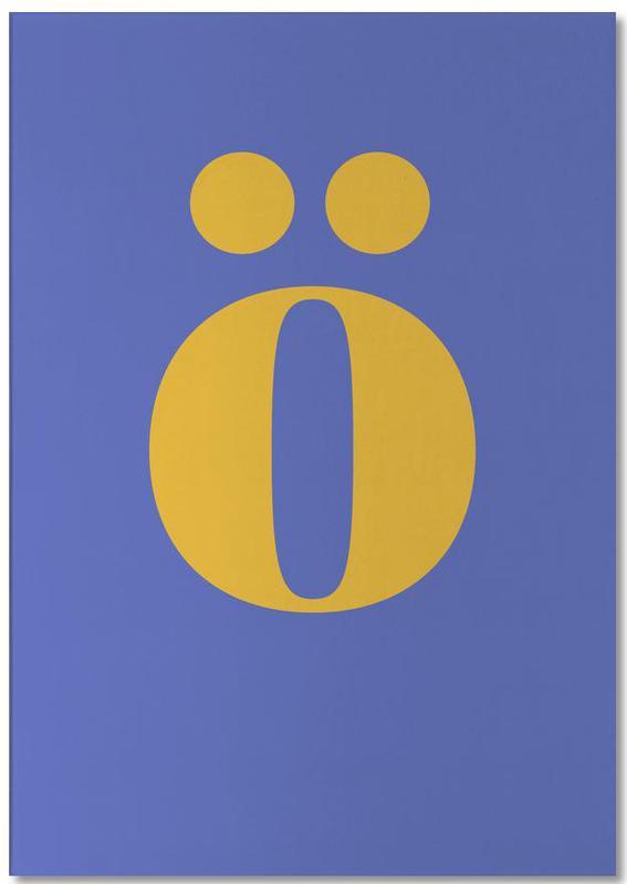 Blue Letter ö -Notizblock