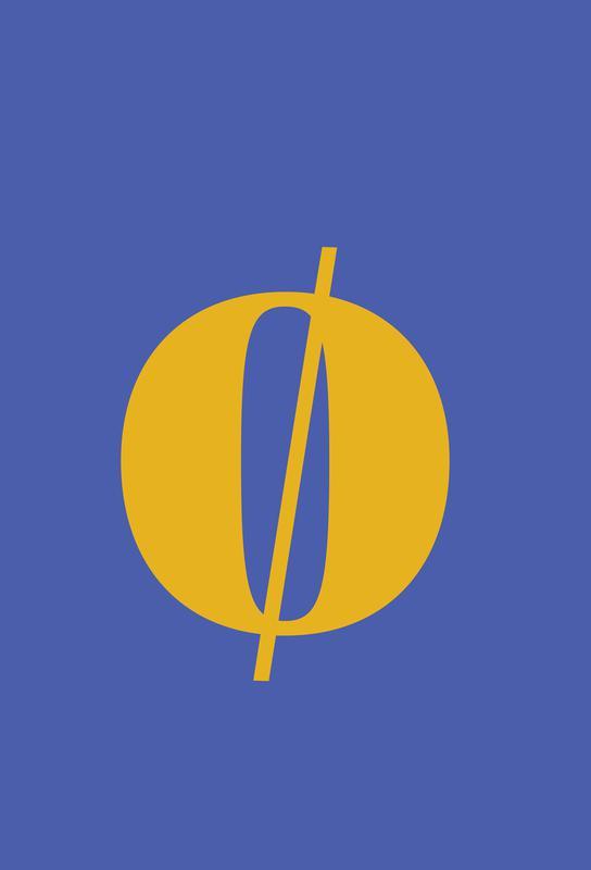 Blue Letter ø Acrylglasbild | Dekoration > Bilder und Rahmen > Bilder | Mehrfarbig | Aluminium