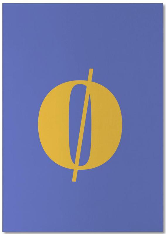 Blue Letter ø -Notizblock