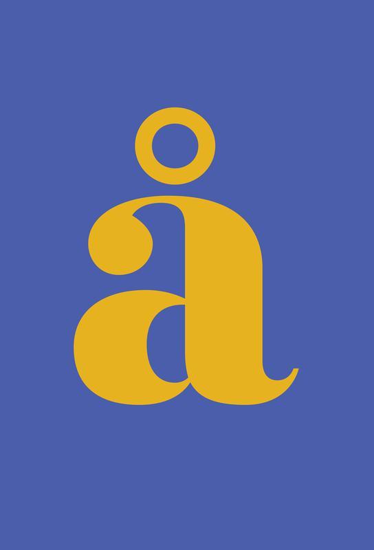 Blue Letter å -Alubild