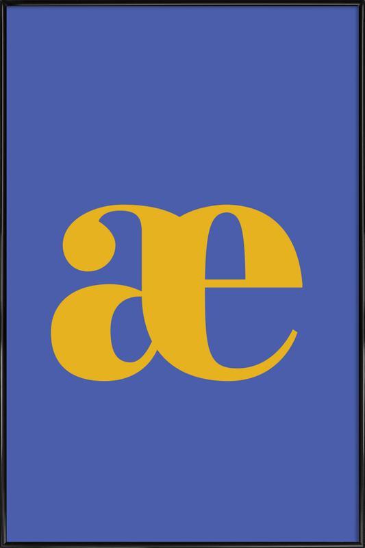 Blue Letter æ Framed Poster