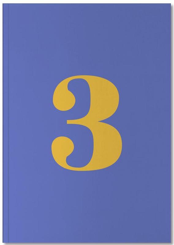 Blue Number 3 Notebook