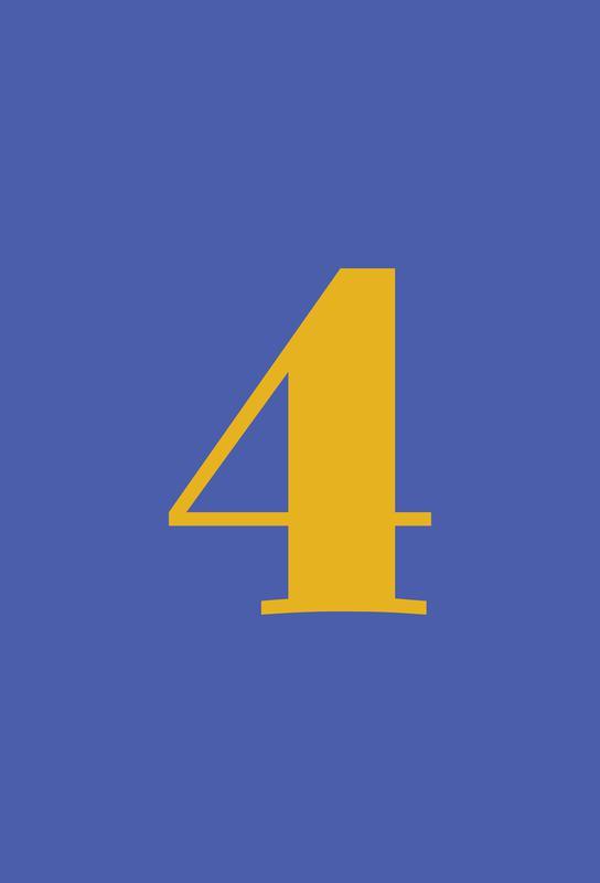 Blue Number 4 -Alubild