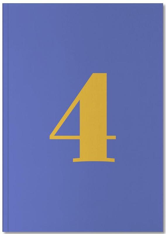 Blue Number 4 Notebook