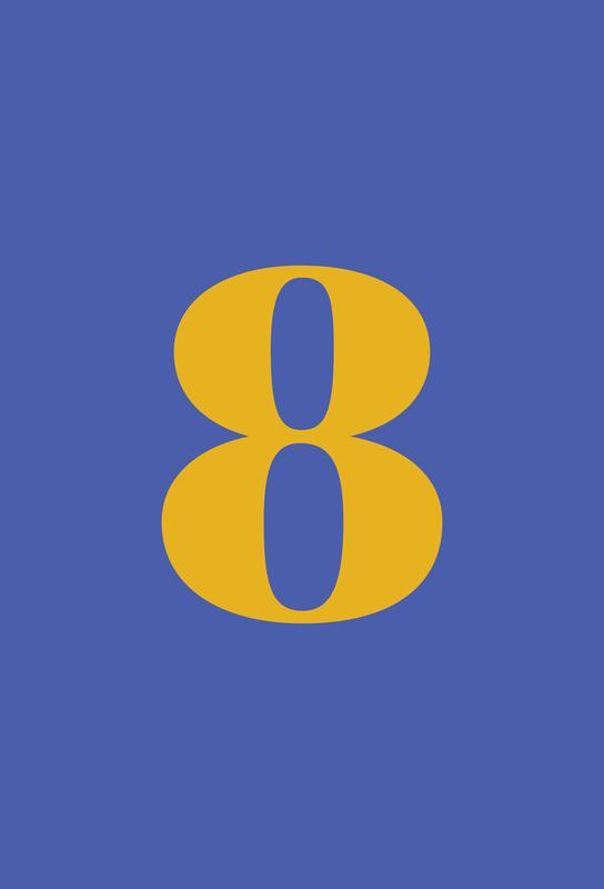 Blue Number 8 -Alubild