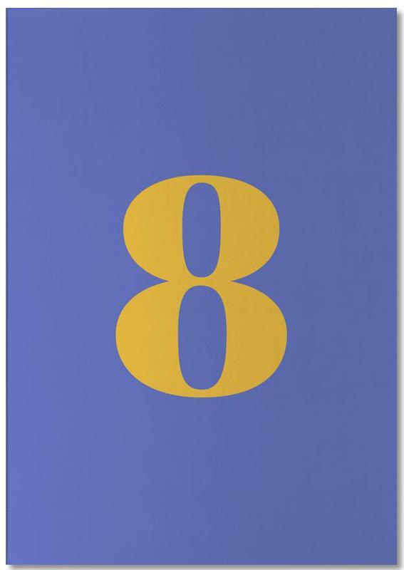 Blue Number 8 -Notizblock
