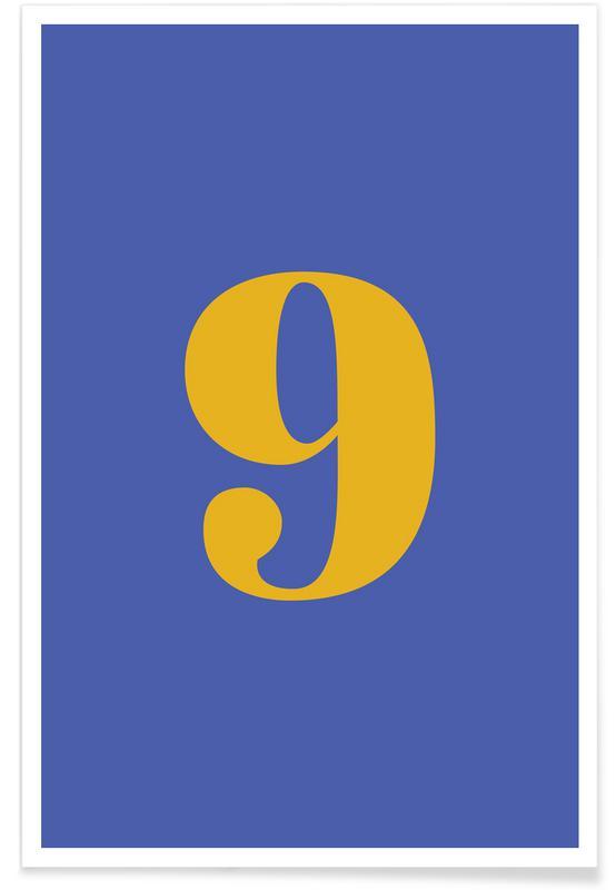 Blue Number 9 -Poster