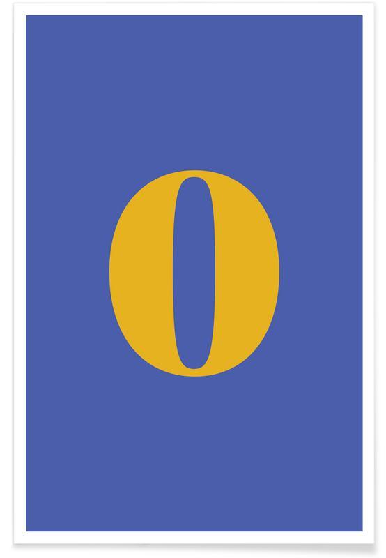 Blue Number 0 -Poster