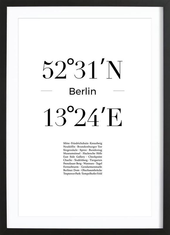 Berlin Poster i träram