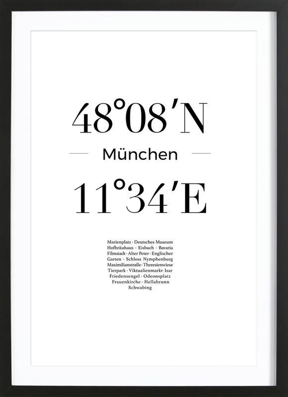 München -Bild mit Holzrahmen
