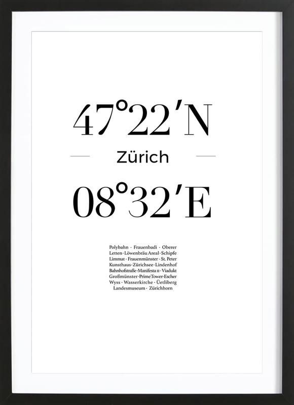 Zürich poster con marco
