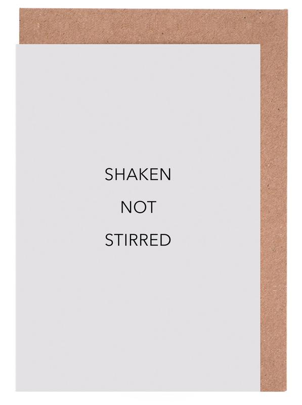 Shaken Not Stirred Grußkartenset