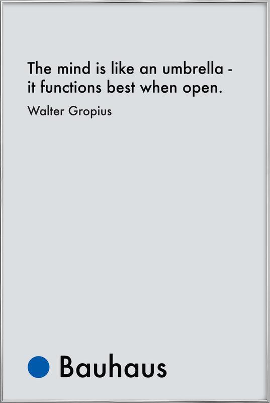 Gropius - Creativity Poster in Aluminium Frame