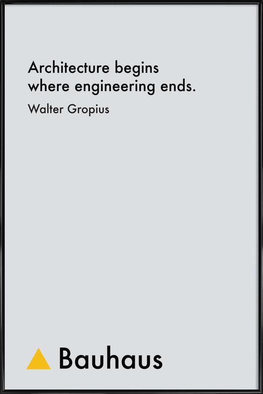 Gropius - Architecture Framed Poster