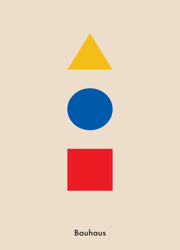 Primary Polygons Canvas Print