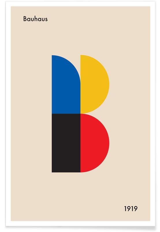 B for Bauhaus -Poster
