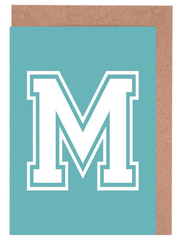 M Greeting Card Set