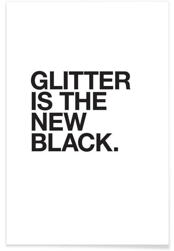 Glitter black Poster