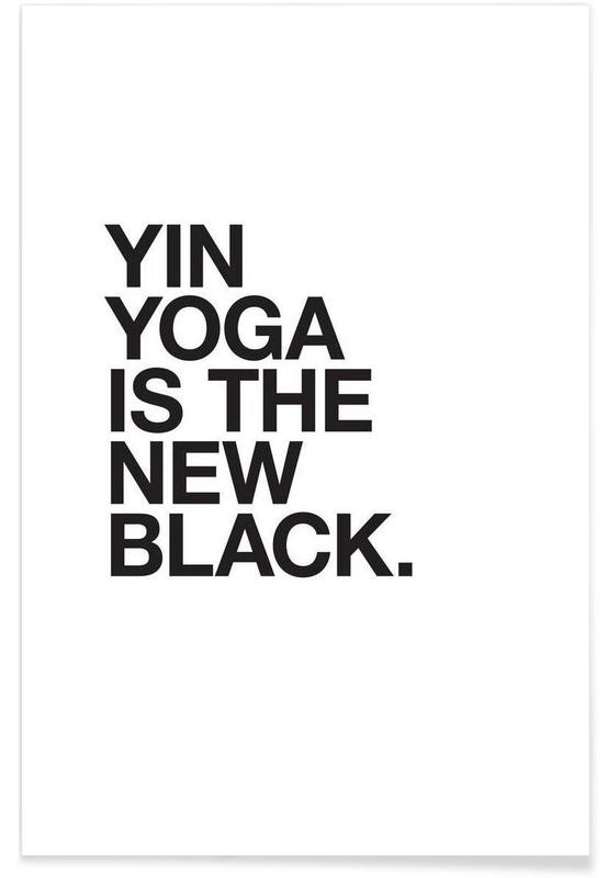 Yin Yoga black póster