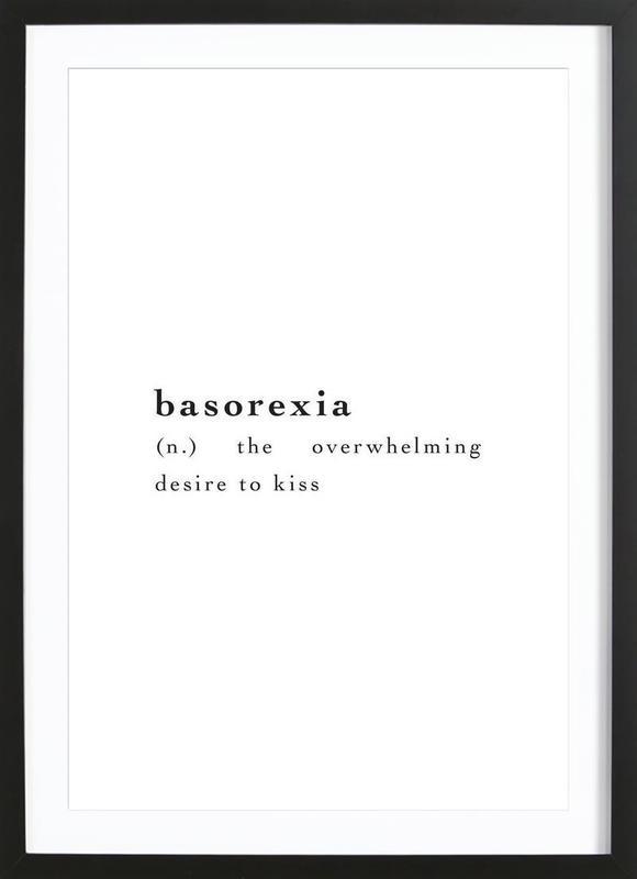 Basorexia Plakat i træramme