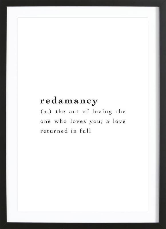 Redamancy Poster i träram
