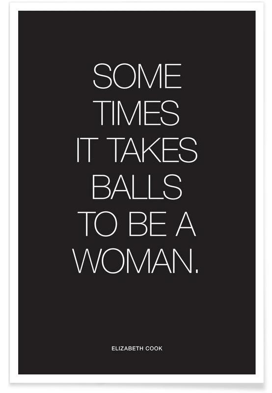 Balls Black poster