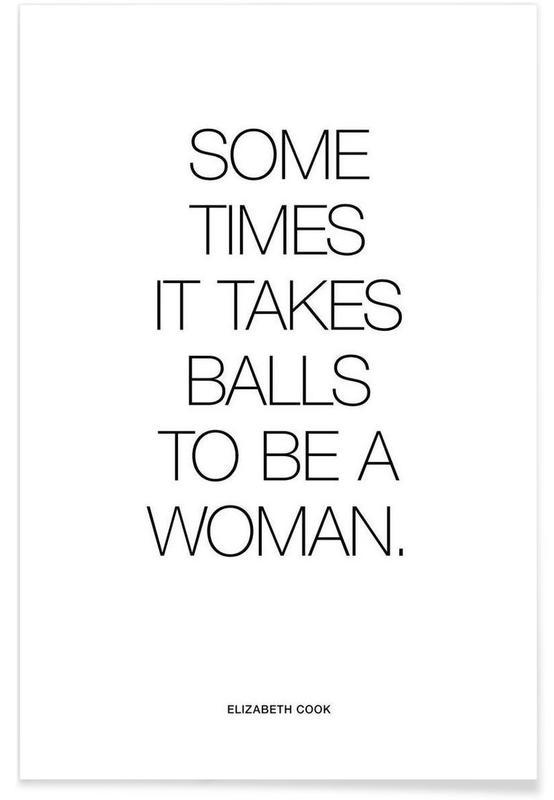 Balls White póster
