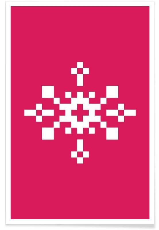 Pink Snowflake 1 poster