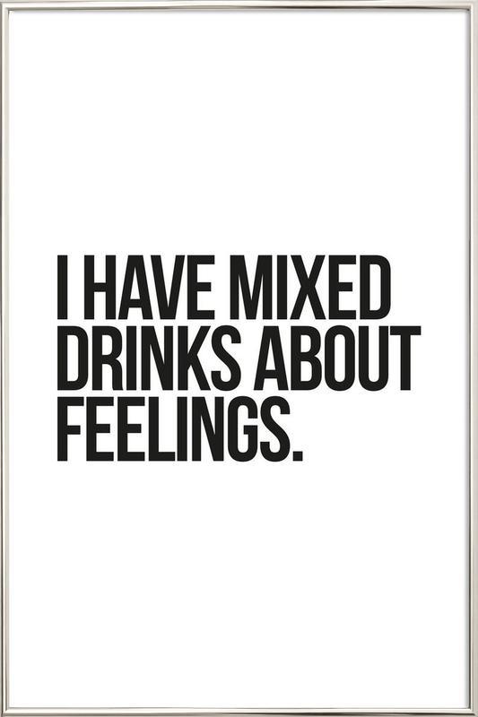Mixed Drinks Poster im Alurahmen