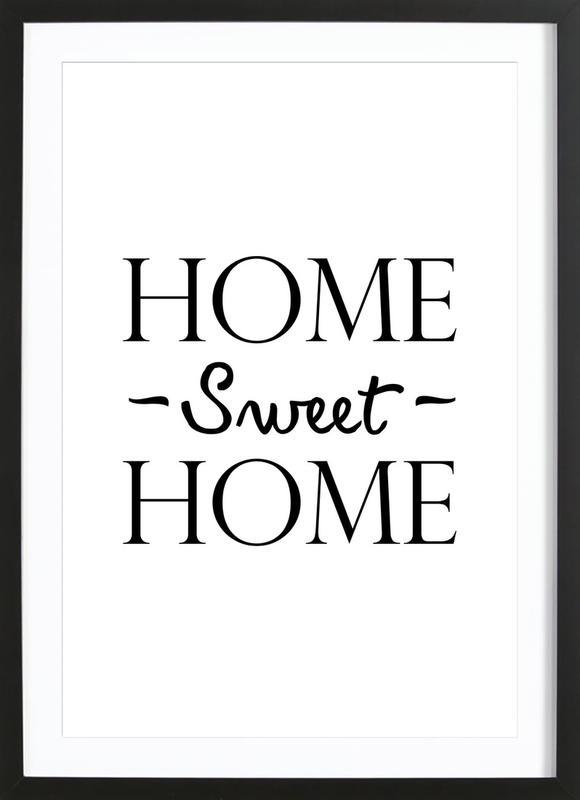 Home Sweet Home Poster i träram