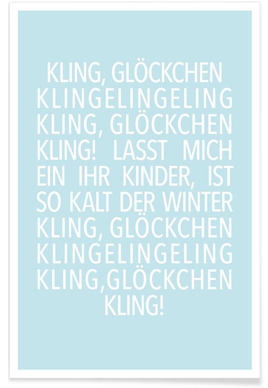 Kling Glöckchen Blue poster