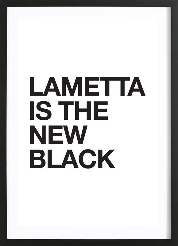 Lametta Is The New Black affiche sous cadre en bois