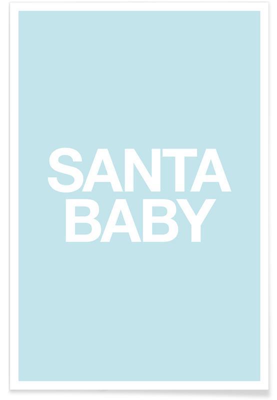 Santa Baby Blue poster