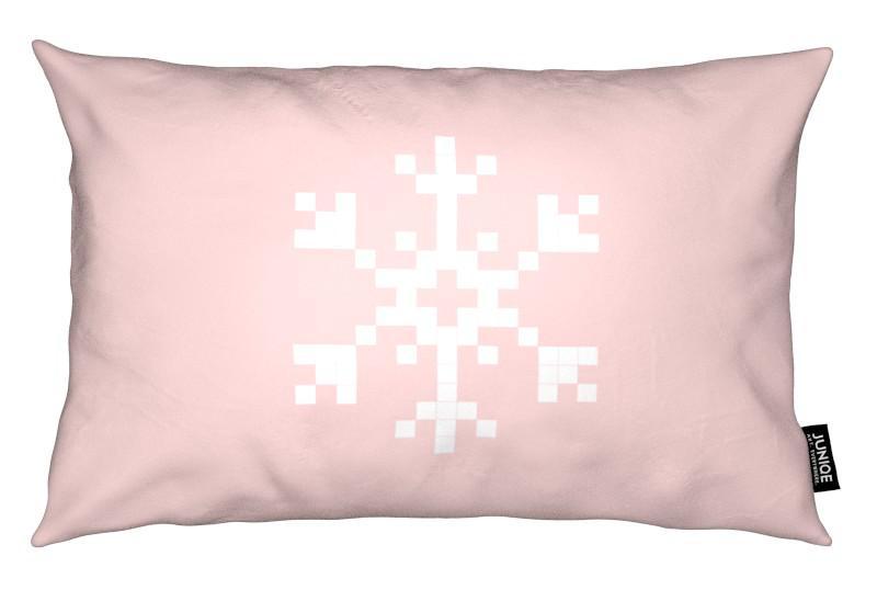 Pixel Snowflake Pink Kissenhülle | Heimtextilien > Bettwäsche und Laken > Kopfkissenbezüge | Mehrfarbig