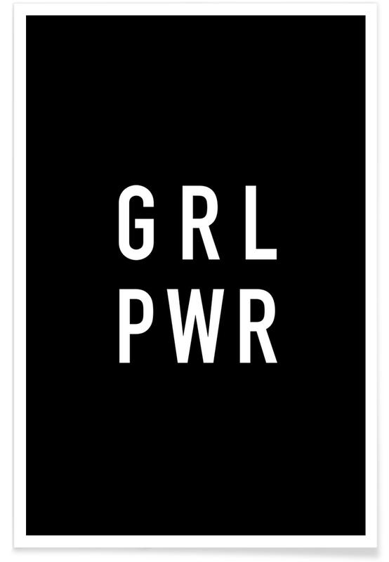 GRL Black poster