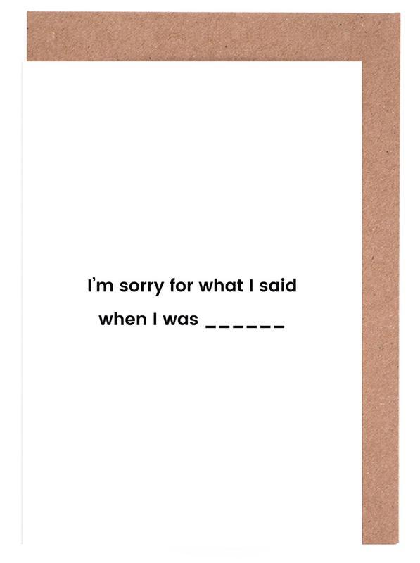 Fill in the Blank cartes de vœux