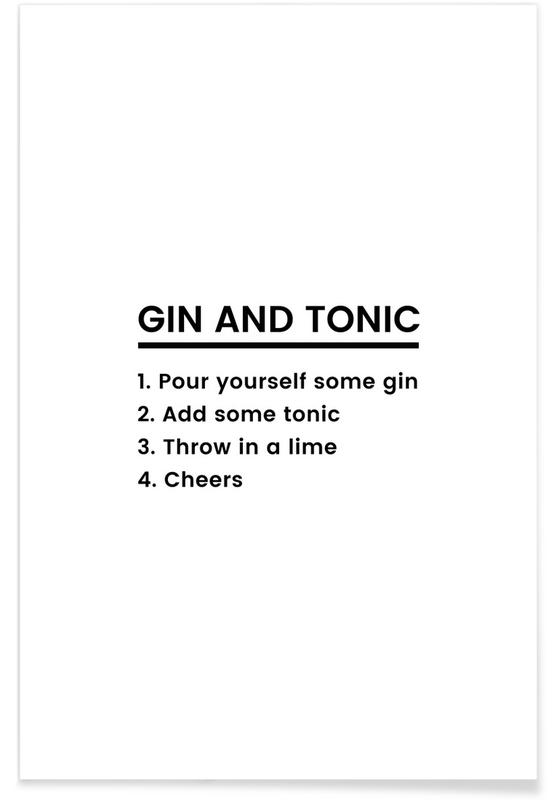 G&T Recipe poster